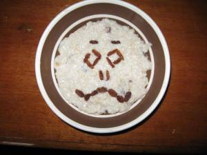 Pissed-off porridge