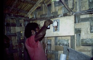 Friend and co-worker Risieve Memengte wiring fusebox.