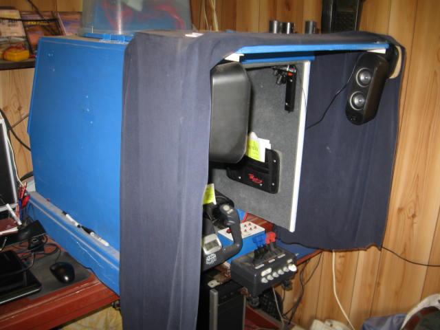 building a flight simulator cockpit the bucket