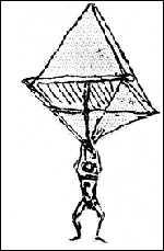 парашют леонардо да винчи картинки